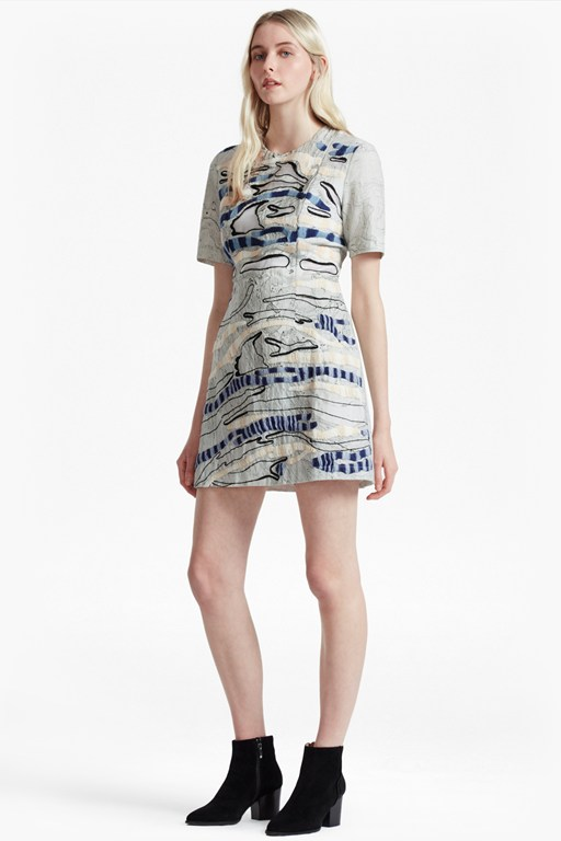 Complete the Look Derain Stitch Back Cut Out Dress