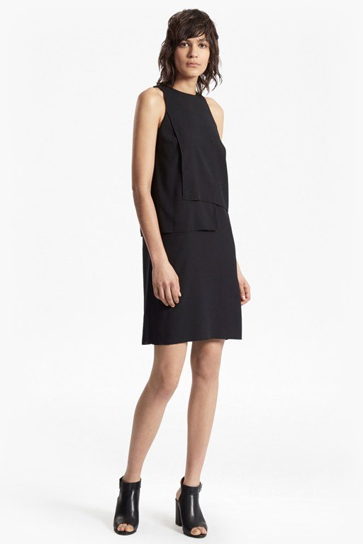 cornell solid shift dress