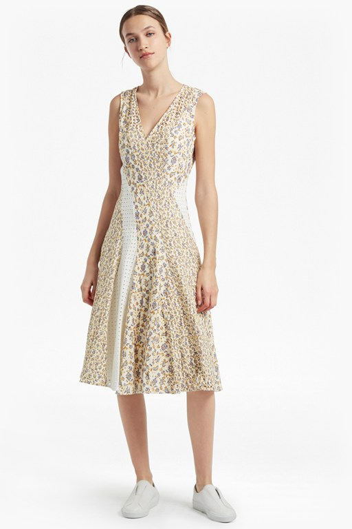 niko broderie printed cotton dress