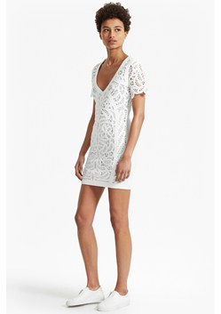 Mesi Macrame Lace Jersey Dress