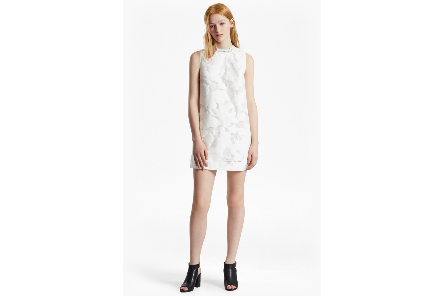 Deka Cotton Embroidered Mini Dress