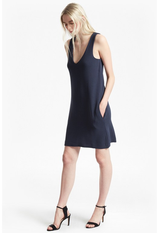 Sudan Marl V Neck Bodycon Dress