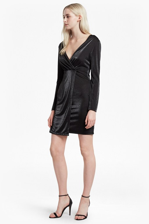 arlene jersey v neck dress