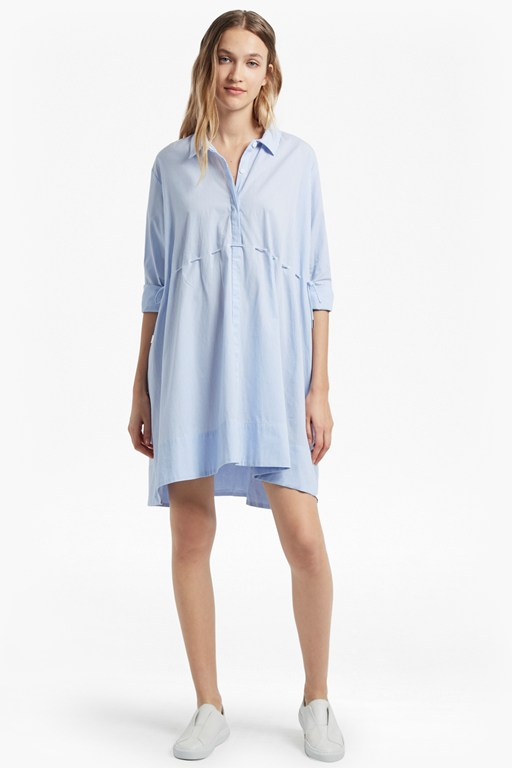 smithson striped cotton shirt dress