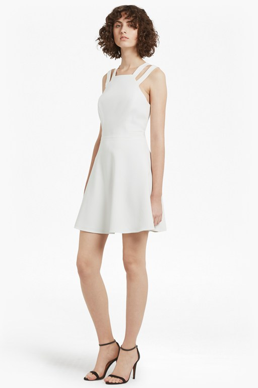 whisper light strappy flard dress