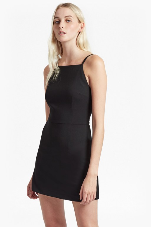 whisper light square neck dress