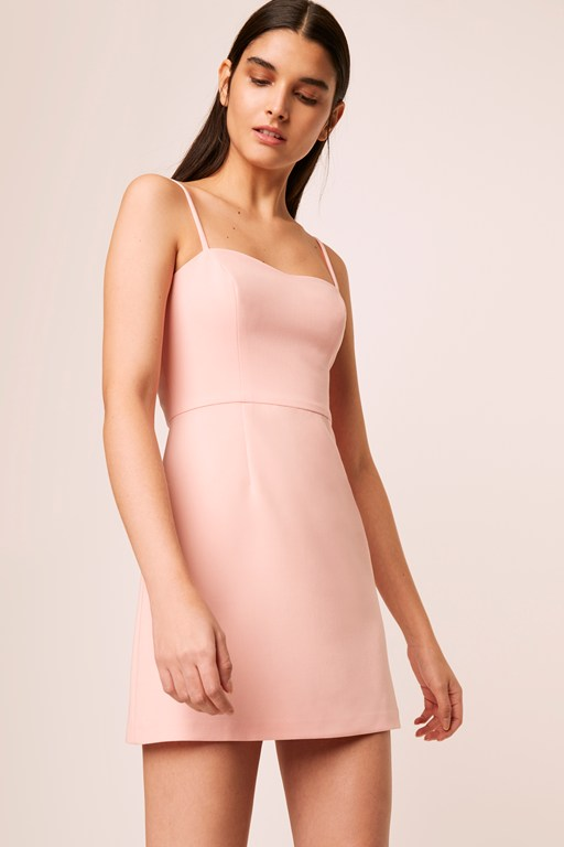 whisper light sweet heart neck dress