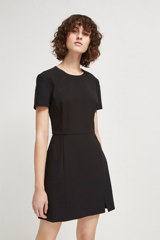 whisper light short sleeve fitted dress