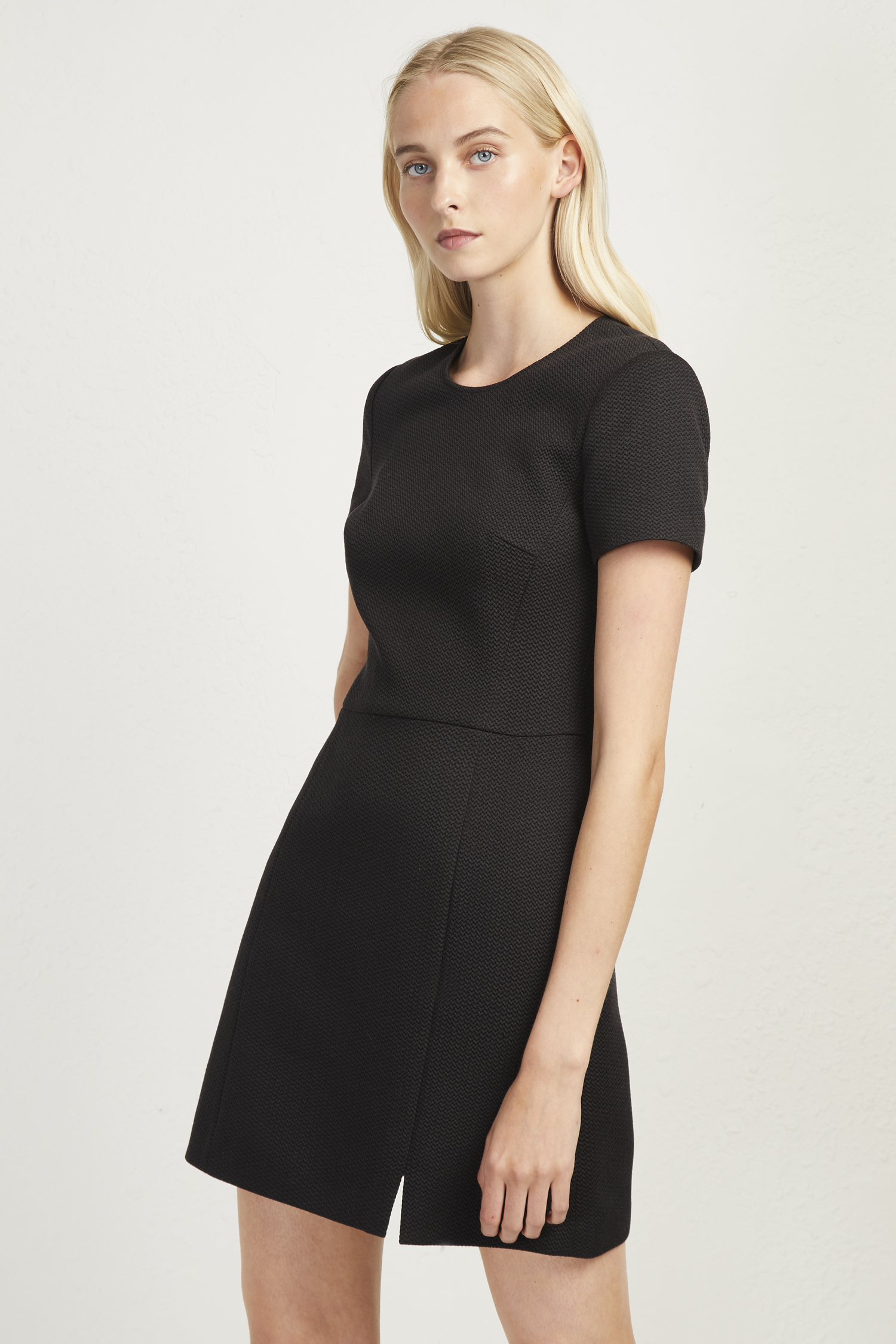 Casual Black Fitted Dress
