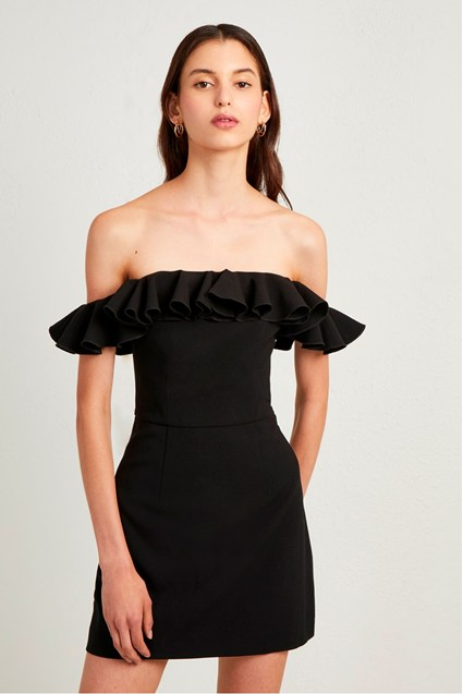 Whisper Light Off the Shoulder Ruffle Dress