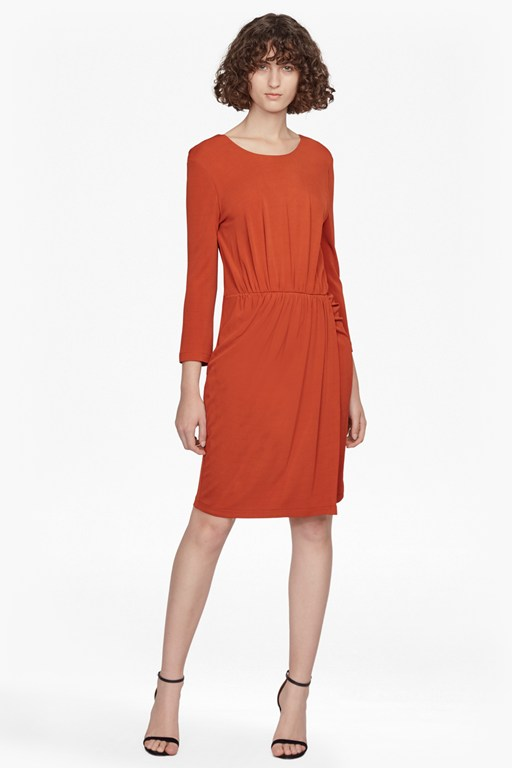 Complete the Look Elsa Long Sleeved Draped Jersey Dress