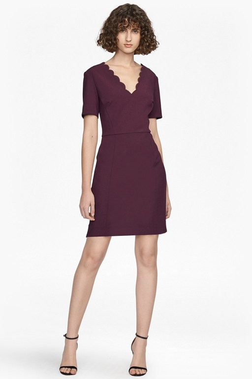 Complete the Look Whisper Ruth Scalloped Dress