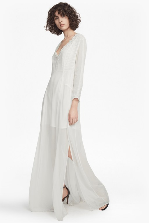 tessie drape v neck maxi dress