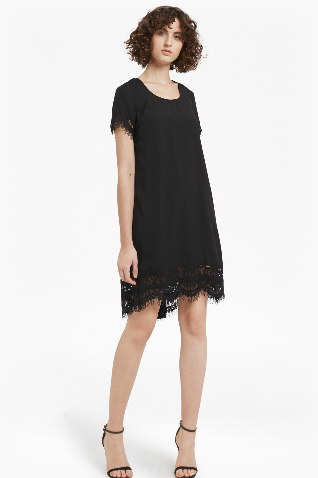 Classic Crepe And Lace Dress | Dresses | French Connection Usa