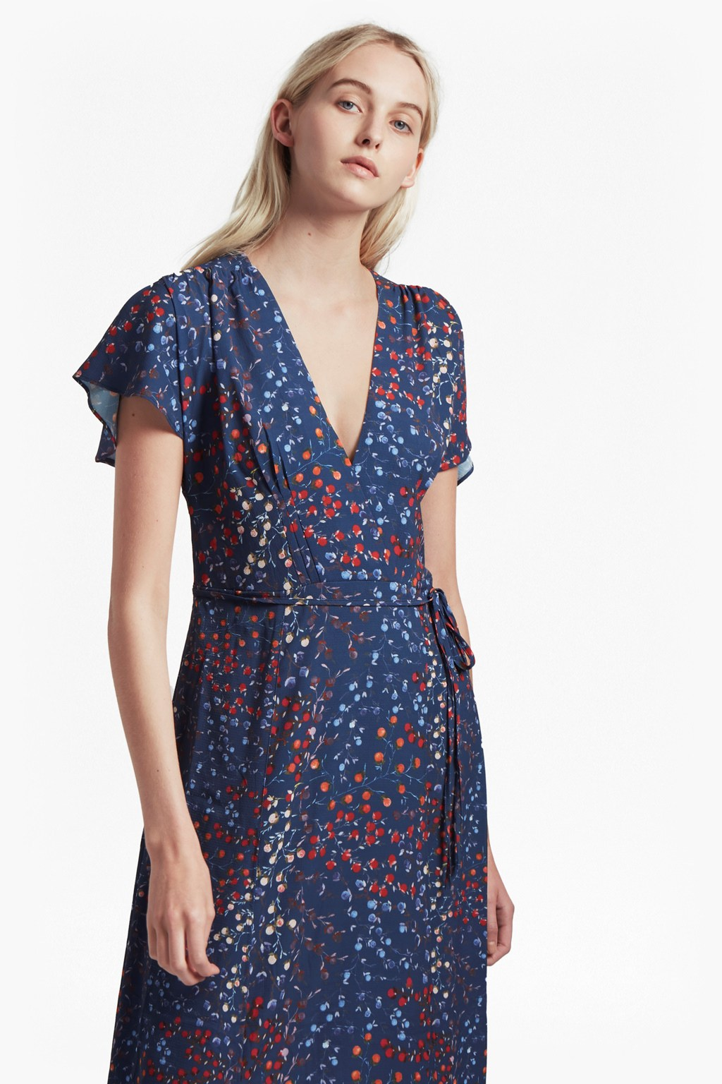 Frances Drape Printed Maxi Dress   Collections   French Connection Usa