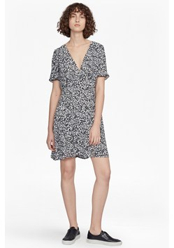 Agnes Printed Draped Dress