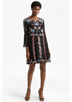 Edith Floral Bell Sleeve Flared Dress