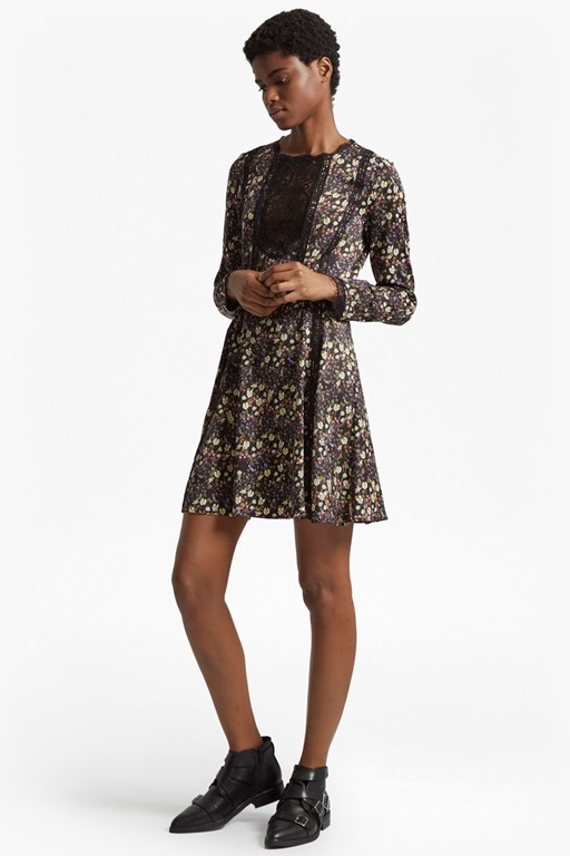 Complete the Look Hallie Drape Floral Flared Dress