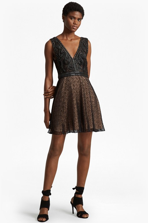 Complete the Look Florence Lace and Faux Leather Dress