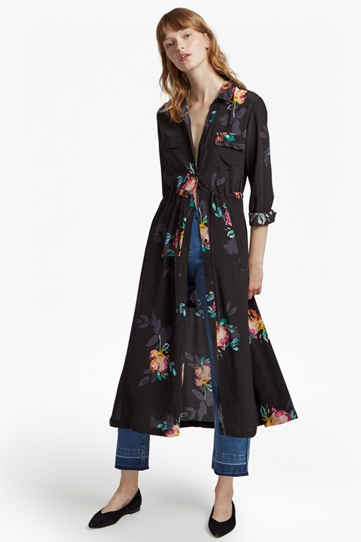 delphine drape shirt dress