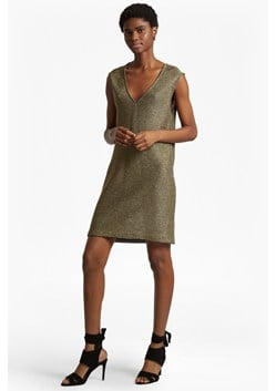 Leah Metallic Sleeveless Tunic Dress