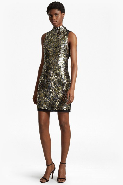 moon rock sparkle tunic dress