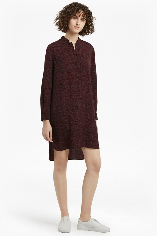 callie lightweight crepe shirt dress