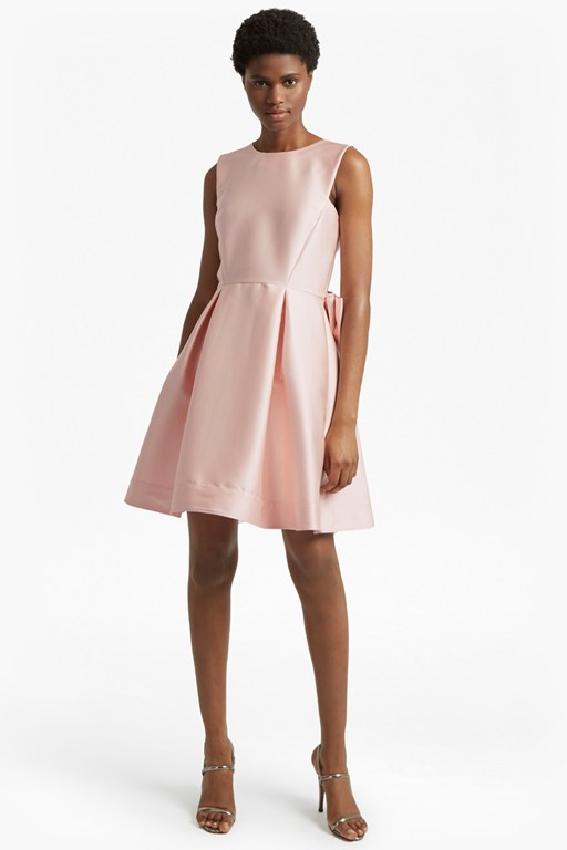 juliet satin sleeveless dress
