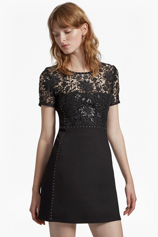 clementin sequin jersey dress