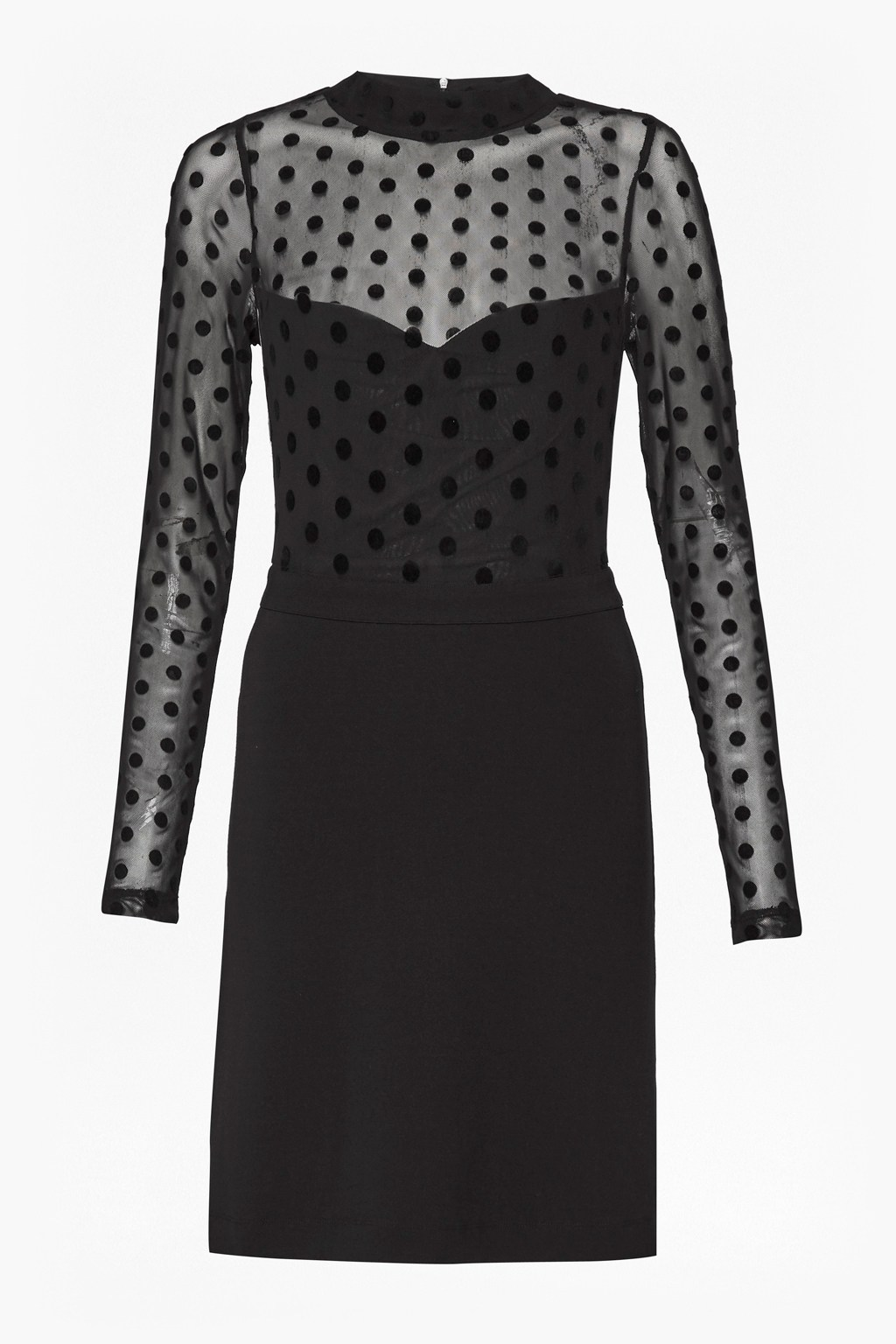e1a6e511205 Lea Mesh Jersey High Neck Dress | Collections | French Connection Usa