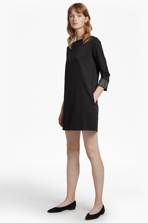deja sparkle long sleeve tunic dress