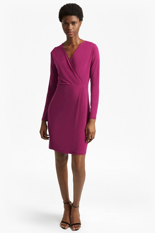 Complete the Look Slinky Wrap Dress