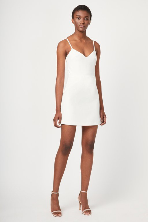 whisper light v neck dress