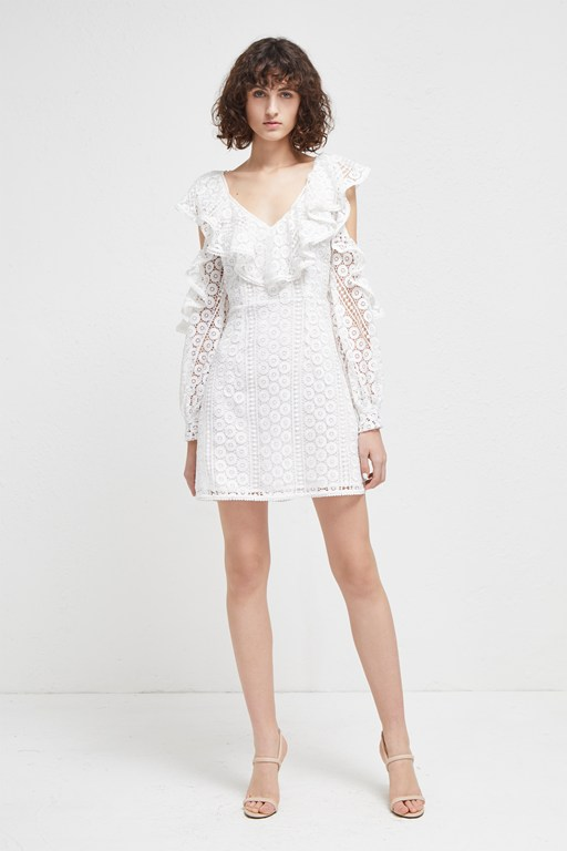 Complete the Look Massey Lace V Neck Dress