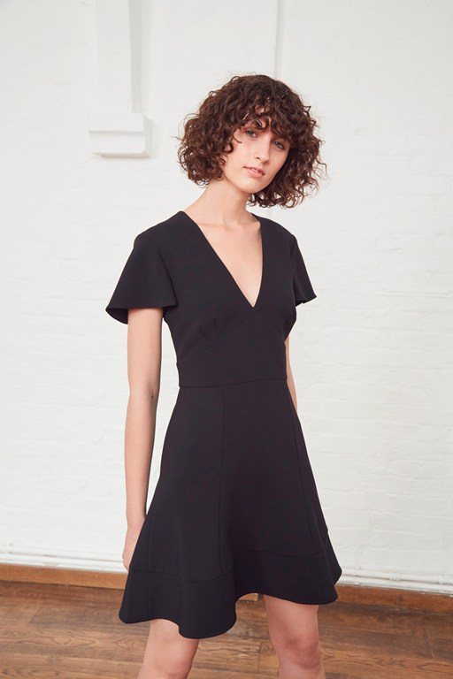 Complete the Look Whisper Ruth V Neck Flared Dress