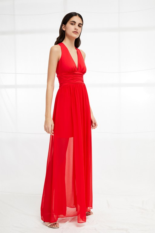 andros jersey halter maxi dress