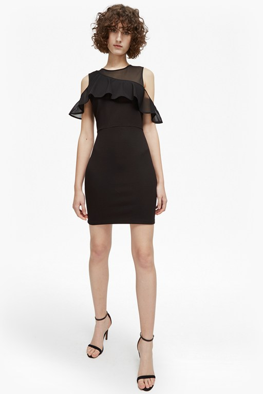 Complete the Look Lore Lula Ponte Cold Shoulder Dress