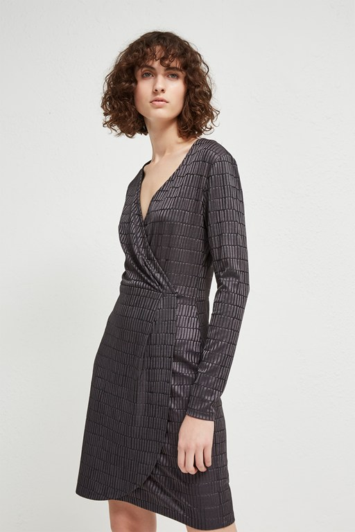 linear jacquard dress