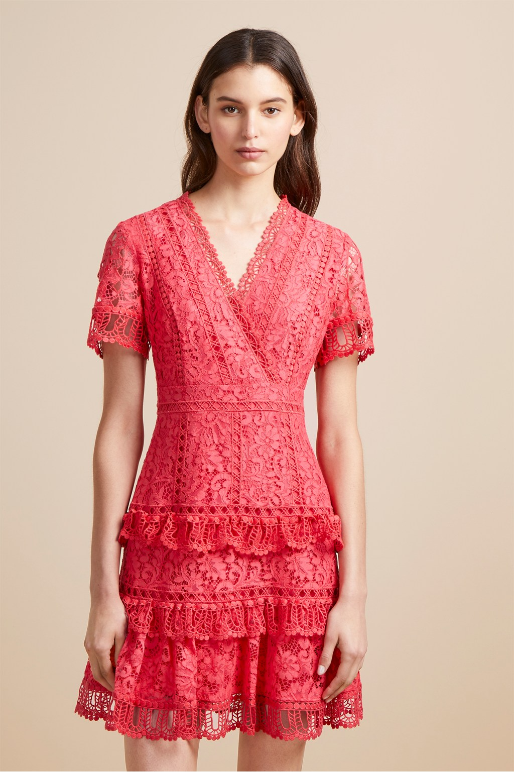 0bec45d8e09 Arta Lace Ruffle Dress | Sale | French Connection Usa