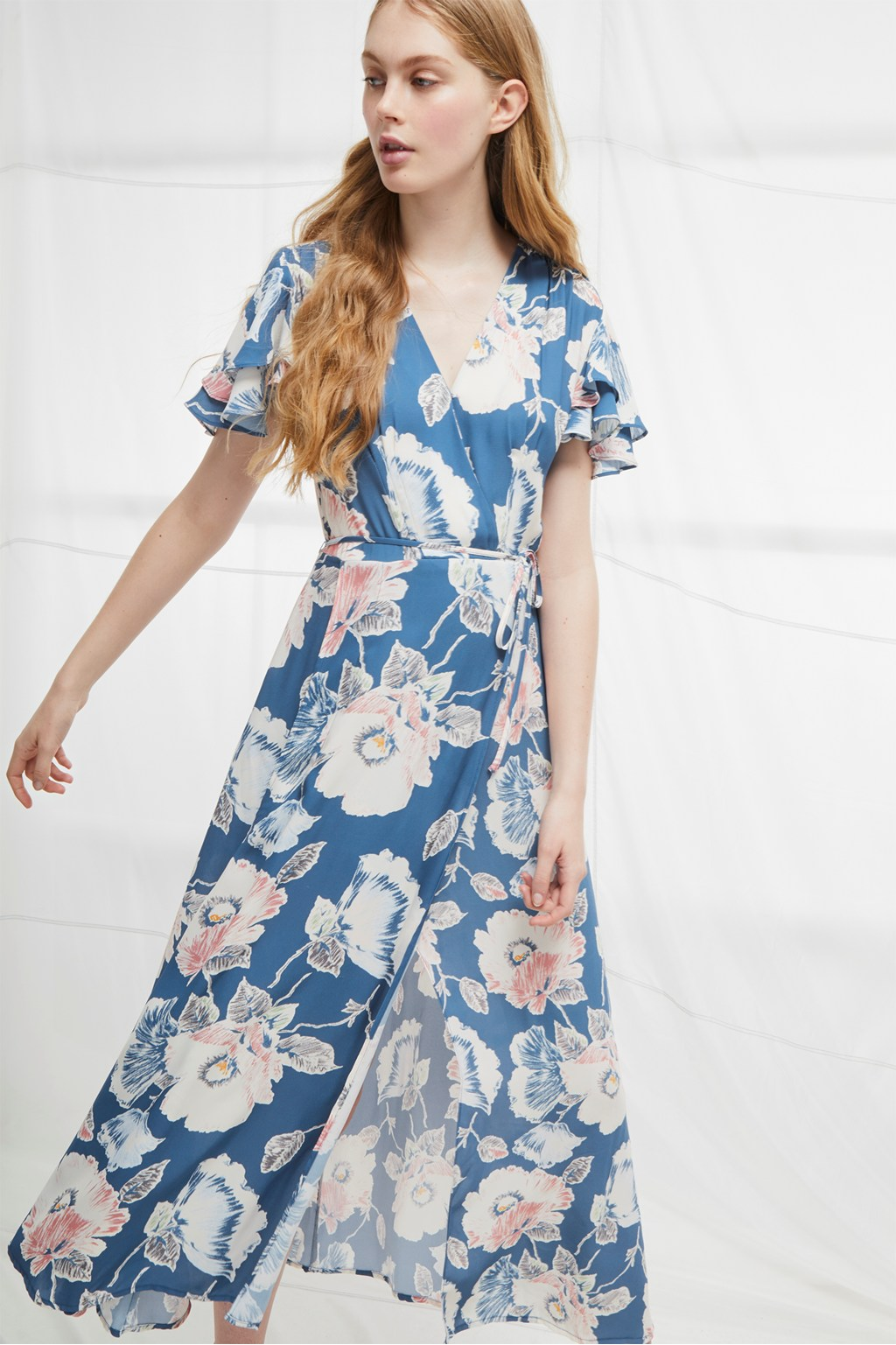 Cari Crepe Midi Tea Dress | Collections | French Connection Usa