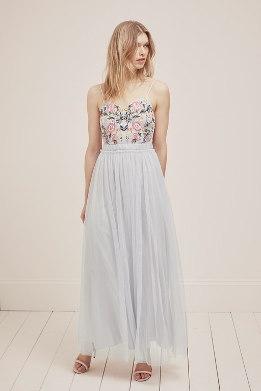 genoa embroidered maxi dress