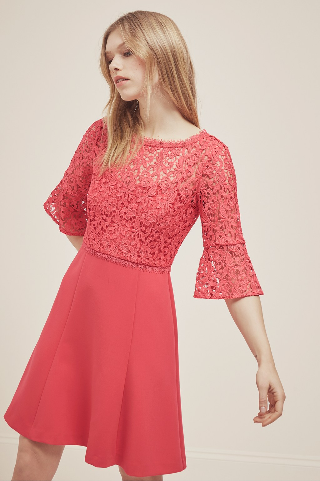 15af58ad220e Whisper Ruth Lace Fit And Flare Dress