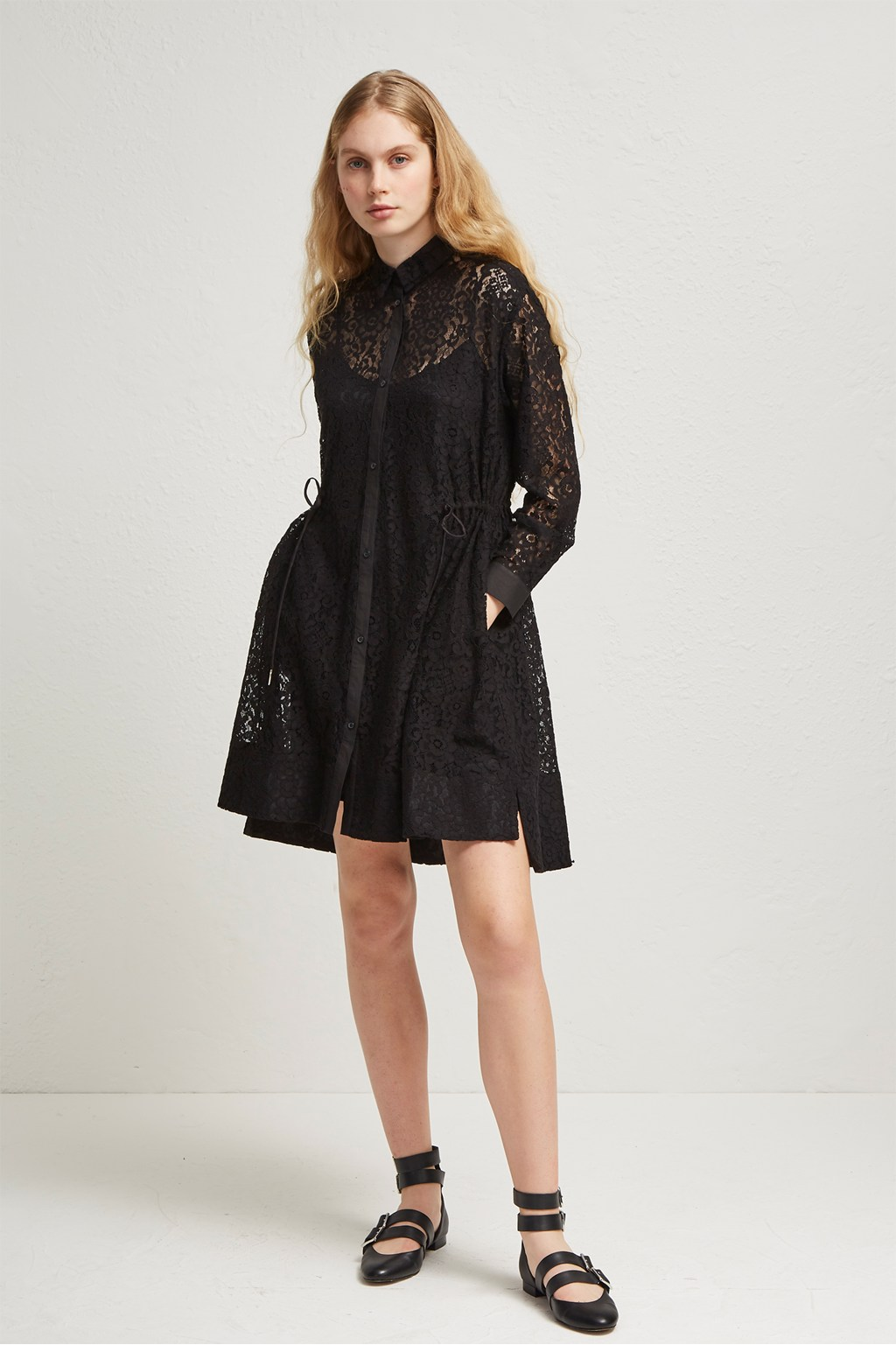 Tatus Lace Shirt Dress   Wedding Guest Dresses   French Connection Usa