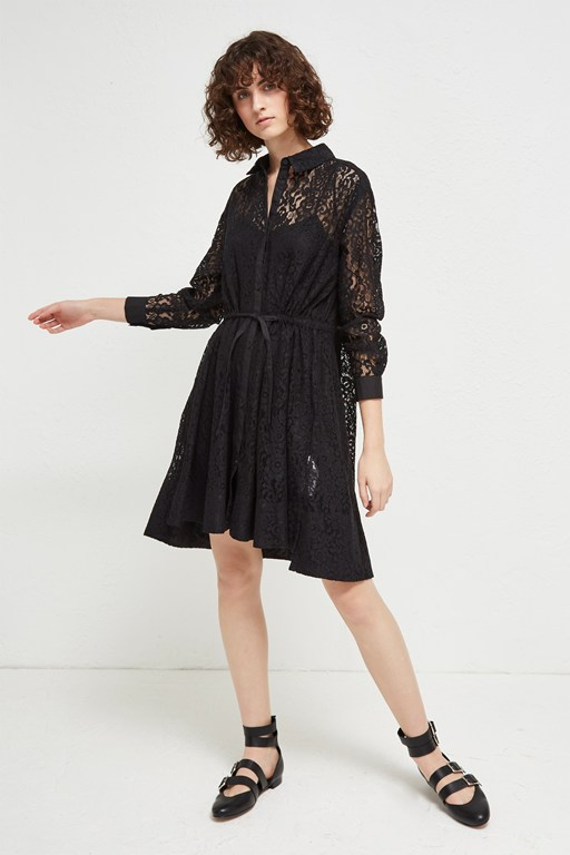 Complete the Look Tatus Lace Shirt Dress