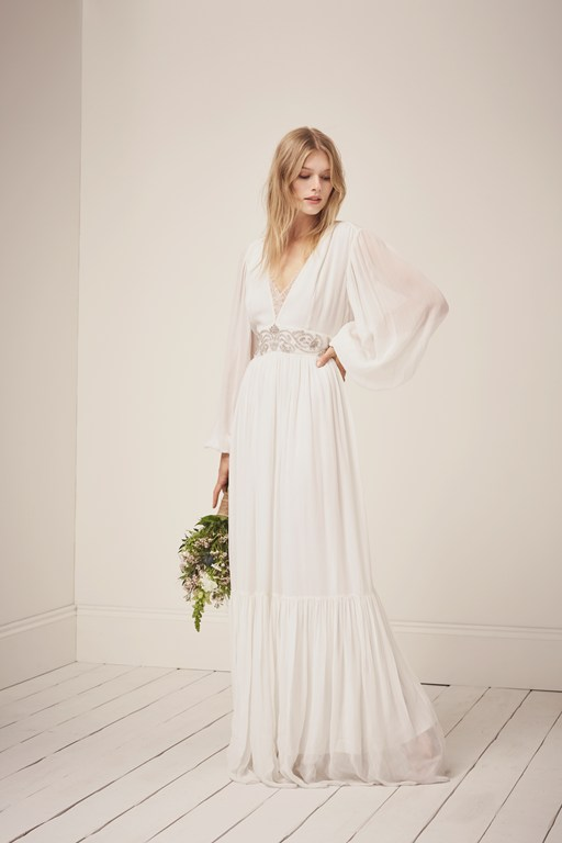 cari sparkle maxi wedding dress