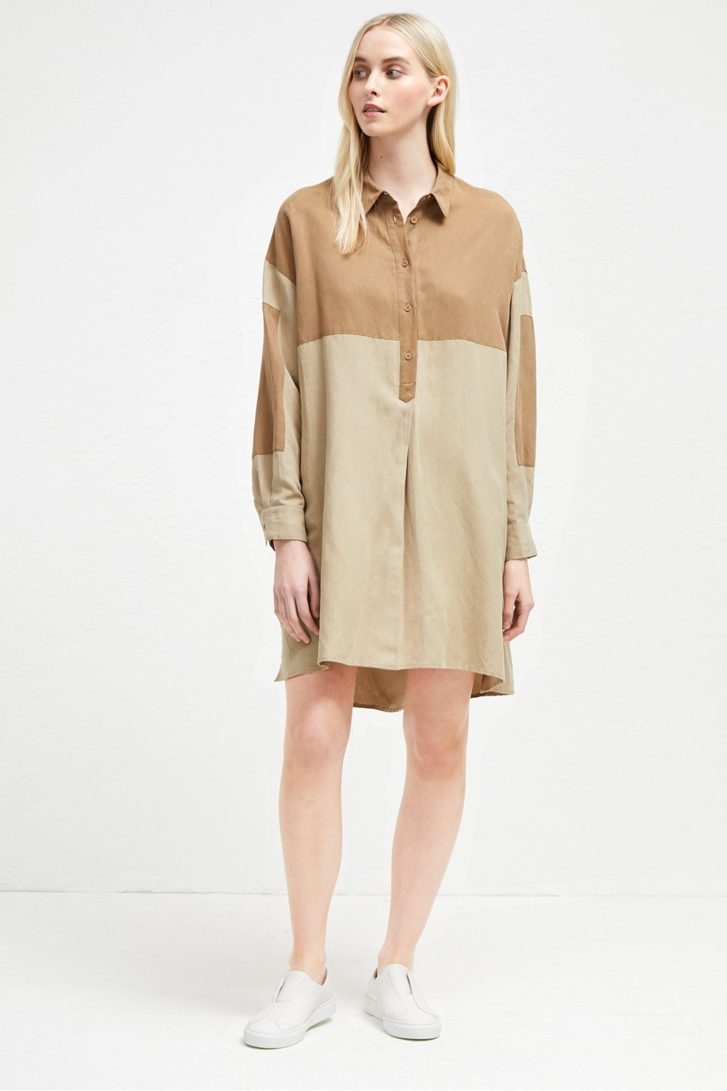Caspia Linen Shirt Dress Lace French Connection Usa