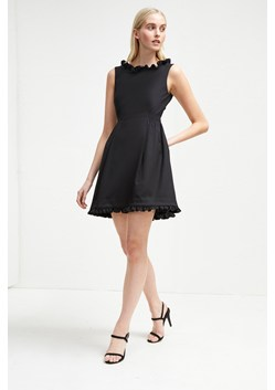 Alvina Stretch Frill Belted Dress