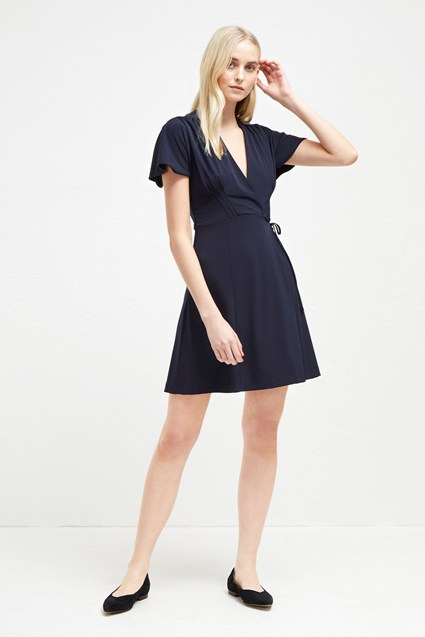 Alexia Crepe Jersey Wrap Dress Formal Evening French Connection Usa