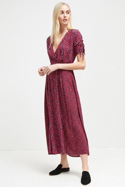aubine fluid floral maxi dress