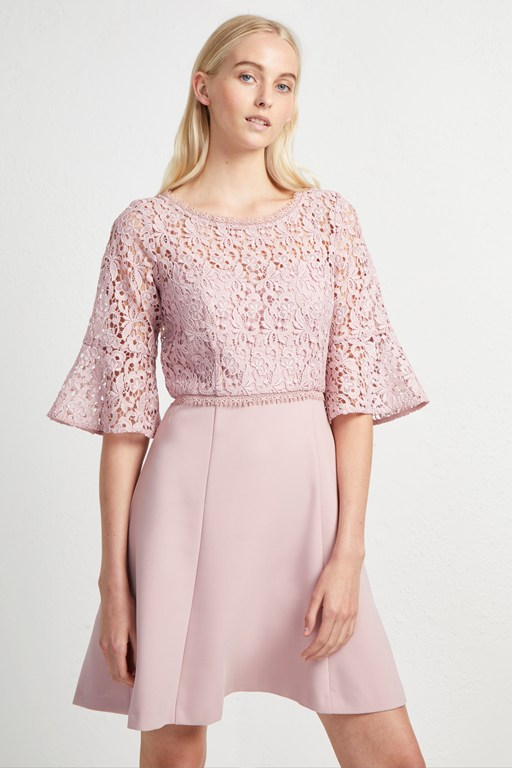 whisper ruth lace mix dress